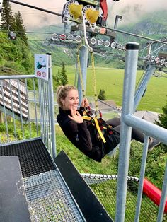 Zipline on Mt Titlis