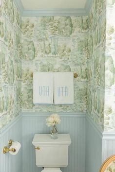 sanderson waterperry wallpaper mit blauem beadboard trim traditionell badezimmer - The world's most private search engine Benjamin Moore, Clean Desk, Pink Towels, Bathroom Wallpaper, Bathroom Beadboard, Painting Trim, Visual Comfort, Traditional Bathroom, Cool Diy Projects