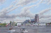 Dordrecht, NL with sailing boats, 60 x 90 cm, oil pint on linen, $ 2000