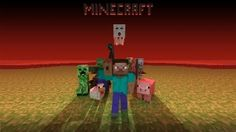 Preview wallpaper minecraft, mobs, creeper, snake, zombie, chicken, pig, man, pixels 1920x1080
