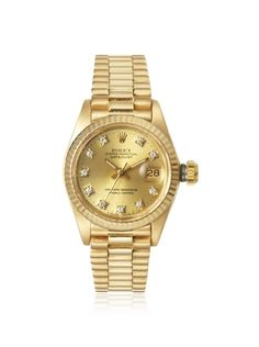 Rolex Ladies 18K Presidential Fluted Bezel Watch