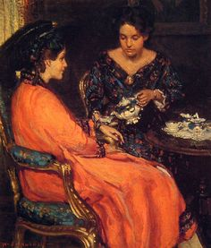 Henry Salem Hubbell - Study for the Orange Robe