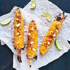 Mexican BBQ corn-for clem Corn Recipes, Side Recipes, Mexican Grilled Corn, Mexican Corn, Bbq Corn, Carnival Food, Campfire Food, Campfire Recipes, Homemade Tortillas