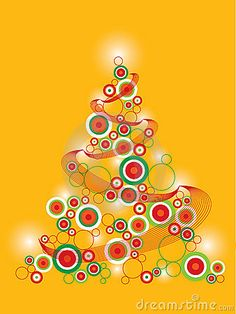 Retro funky christmas tree by Fat*fa*tin, via Dreamstime