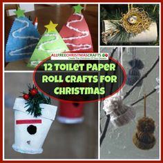 12 Toilet Paper Roll Crafts for Christmas | Who knew toilet paper rolls could be used for so many Christmas crafts?
