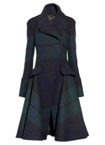 Black Watch plaid coat by McQ Alexander McQueen. I died a little when I saw this.