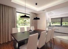 Projekt domu Korso 2 175,94 m² - koszt budowy - EXTRADOM Beautiful House Plans, Beautiful Kitchen Designs, Modern Family House, Modern House Design, 2 Storey House Design, Cuisines Design, House Rooms, Home Fashion, Home Interior Design
