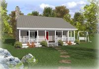 pics of a small country style ranch porch | Small House Plans featuring small home designs 1500 square feet or ...