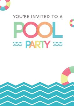 Pool party free printable party invitation template greetings fun afternoon free printable summer party invitation template greetings island stopboris Gallery