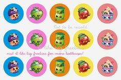 I like big freebies: Shopkins bottlecap images/Shopkins cupcake toppers 13th Birthday Parties, Birthday Fun, Birthday Party Themes, Birthday Ideas, Fete Shopkins, Shopkins Bday, Kids Birthday Crafts, Shopkins Happy Places, Bottle Cap Crafts