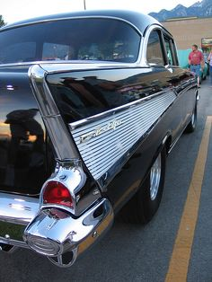 '57 Chev ~ classic fin  This was always my dream car...Re-pin brought to you by agents at #HouseofInsurance #Eugene, Oregon for #carinsurance.