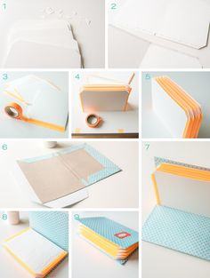 diy - Spring Stationery and Fan Folder - Leelah Loves - DIY spring stationery in pastel colors and homemade paper folder Informations About diy – Frühlin - Upcycled Home Decor, Upcycled Crafts, Diy And Crafts, Diy Stationery Paper, Mini Album Scrapbook, Diy Paper, Paper Crafts, Tarjetas Diy, Papier Diy