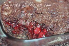 Yummy Nummy Cherry Crunch recipe (Just 3 ingredients! Chocolate Cake Mix +Cherry Pie Filling + Margarine)