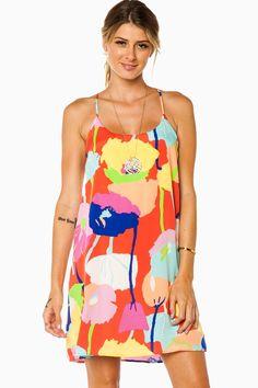 Vivid Beauty Strap Dress