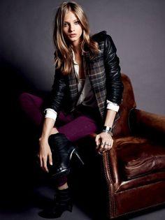 Fancy - Anna Selezneva Sports Boyish Looks for Set's Fall/Winter 2012 Collection