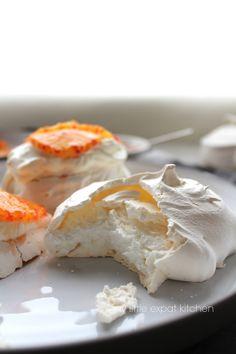 My Little Expat Kitchen: Chewy meringues w/ Greek yoghurt, blood oranges and blood orange & orange-blossom water syrup