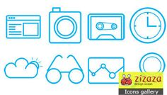 Icon set - Page interactive - Zizaza item for