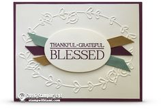 """BLOG HOP: Blessed with Paisleys and Posies Card 