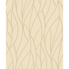 Grandeco Clear Spirit Waves on Almond Wallpaper A