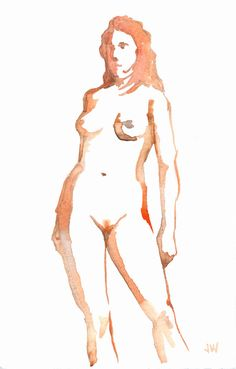 """Jeffrey Wiener  """"Rogue Model 1""""  (Pencil and wash on paper, 7"""" x 5"""")"""
