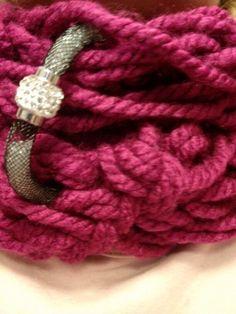 Stardust..arm knitting