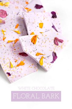 White Chocolate Floral Bark | Sprinkles for Breakfast