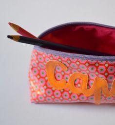 Exemple Trousse d'école ♥Capucine♥ | Mamzelle Adele, créatrice d'accessoires textiles | mamzelleadele