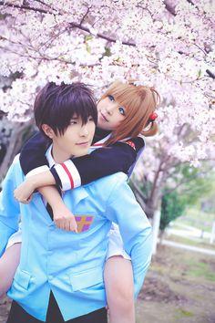 BAOZI and HANA(包子 & HANA) Toya Kinomoto, Fuzuki(柒玥Fuzuki) Sakura Kinomoto Cosplay Photo - WorldCosplay