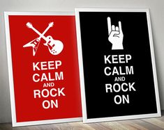Printable Keep Calm and Rock On Posters by RenyDigitalDesign, €2.85