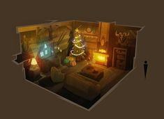 Christmas House, Etienne SAVOIE on ArtStation at https://www.artstation.com/artwork/NKLZJ