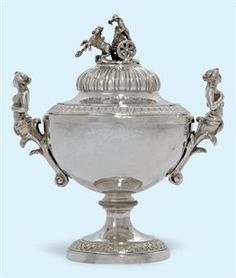 AN ITALIAN SILVER BOWL AND COVER MARK OF GIOVANNI SARTI, ROME, MID 19TH CENTURY
