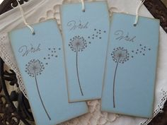 Wedding Wish Tags Dandelion Hearts Set of 25. $16,50, via Etsy.