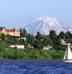 View of the Landmark on the Sound and Mt. Rainier from Puget Sound in Seattle Southside. Photo Courtesy of Carmen Scott.