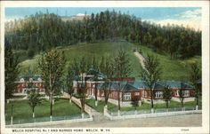 Miners Hospital No. 1 and Nurses Home, Welch, WV, 1920's.