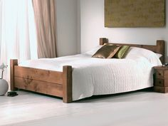 Solid Wood Bed is Flexible for Any Form of House Style