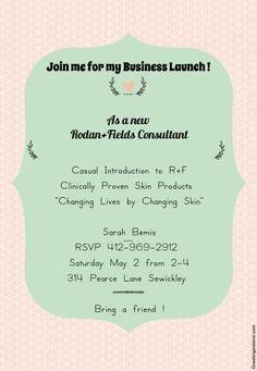 EDITABLE Rodan and Fields Party Invitation DIY by TanyasPrints