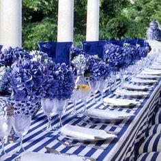 @asmaepira | #blueflower #flores #flores #flowers #glamour #decoration #decoracao #centerp... | Webstagram - the best Instagram viewer