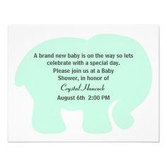 Schön Blauer Elefant Ist Es Eine Jungen Babyparty Einlad | Babyshower, Kreative  Einladungen