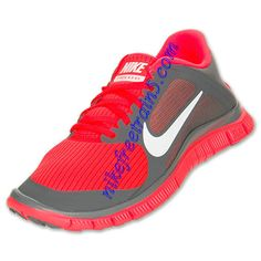 e7bc737bb282 Nike Free 4.0 V3 Womens Cool Grey White Total Crimson 580406 018 Basketball  Shoes On Sale