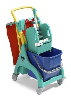 TT00006509 Carrello pulizia professionale NICK PLUS10 secchio 25 litri