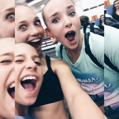 "Rebecca Davies on Instagram: ""When you go through your phone to make more room for storage and you find hundreds of selfies. Cheers @officialmackzmusic @maddieziegler @kk22xo that's very helpful. Ps its ALL about @itskamrynbeck4 in the background HAHAHAHAHA"" Credit ♥Dancemoms luver♥"