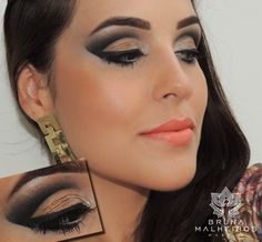 Maquiagem Cut Crease com dourado envelhecido ~ Bruna Malheiros Makeup