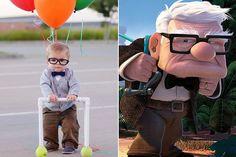 Bebê vestido como Carl, de 'Up', tem fantasia mais fofa do Halloween