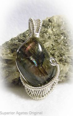 Labradorite Spectrolite Wire Wrapped Stone by superioragates, $35.00
