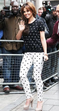 Polka dots on polka dots on polka dots.  Now the NSM Fashionista is just getting carried away.