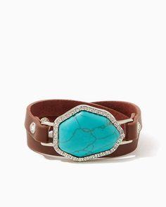 charming charlie | Speckled Stone Wrap Bracelet | UPC: 400000072111 #charmingcharlie