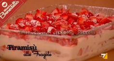 Tiramisu alle Fragole | la ricetta di I Menu di Benedetta