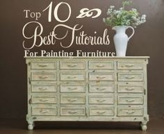 10 Best Tutorials for Painting Furniture | HomeSpun-Threads