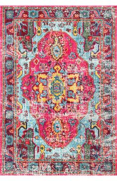 This 100% polypropylene, machine-made rug comes in an elegant mosaic medallion design and stunning contrasting shades. Perfect for a bohemian room décor, this rug has a low pile and will make a bold statement in any room.