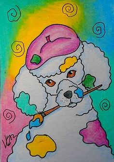CAN I PAINT YOU? ...POODLE ACEO ON EBAY